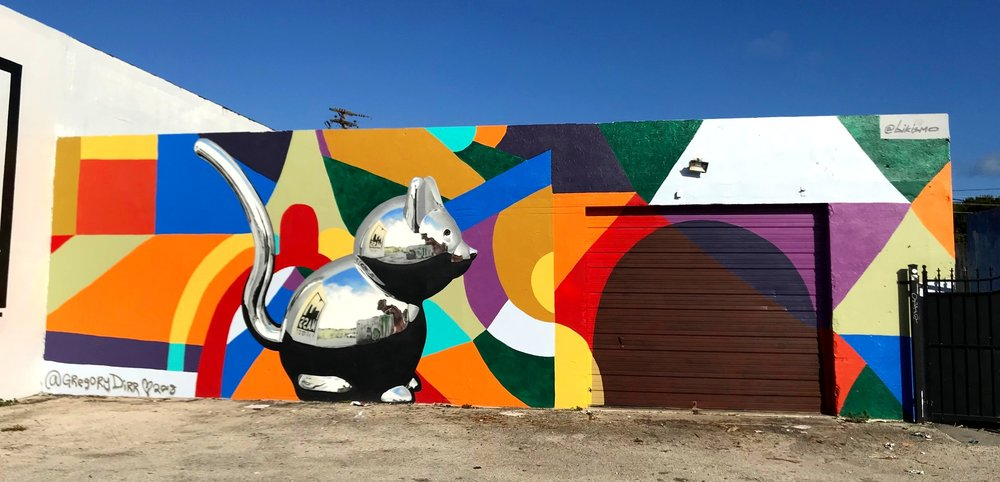 Variation Of 1 And 2   facade mural for Crates Tavern. 2018 mouse by artist   Bikismo