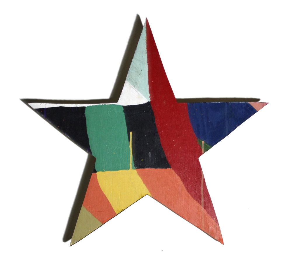 Star   acrylic on wood. a piece from the  Color Cut Outs  series. 2016
