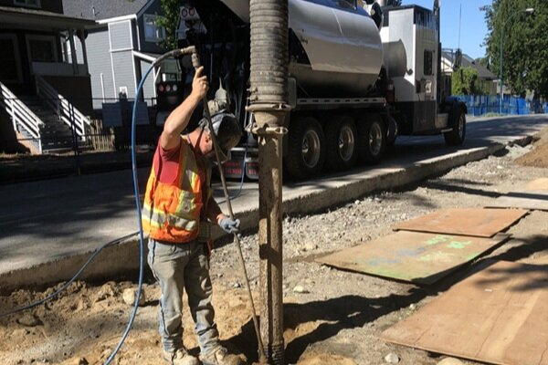 Slot Trenching - Excavating narrow trenches to install pipes, cables or other in-ground utilities.