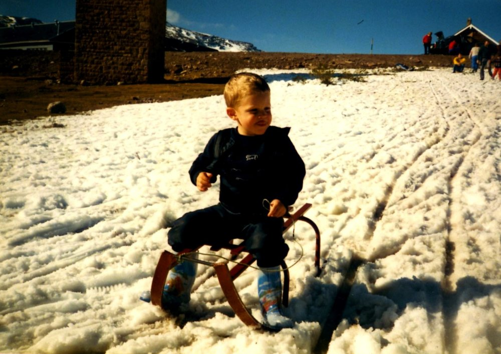 Joe on a sled