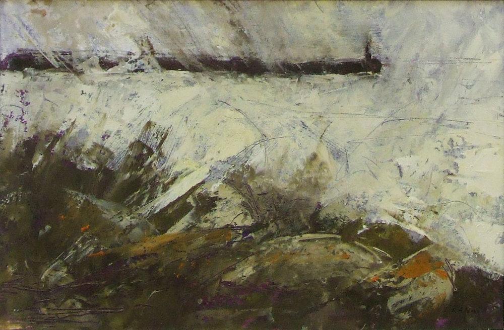 owards the jetty