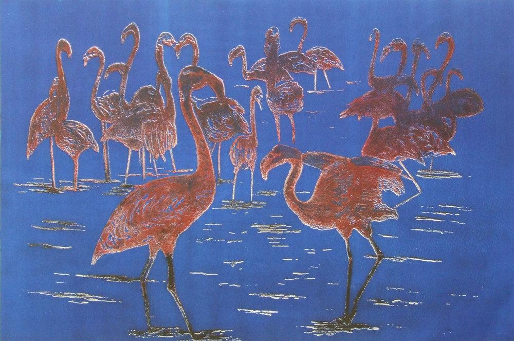 flamingos etching - Linda Nevill small file.jpg