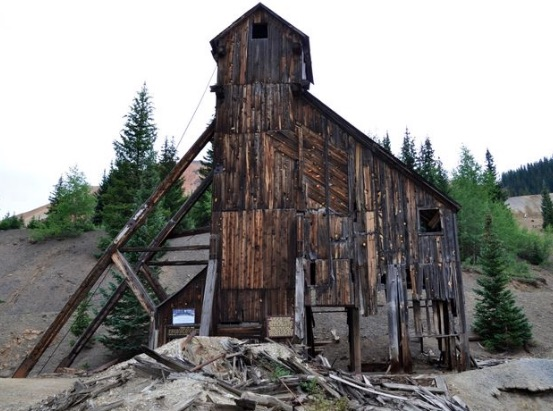 Old abandoned mine site near Silverton