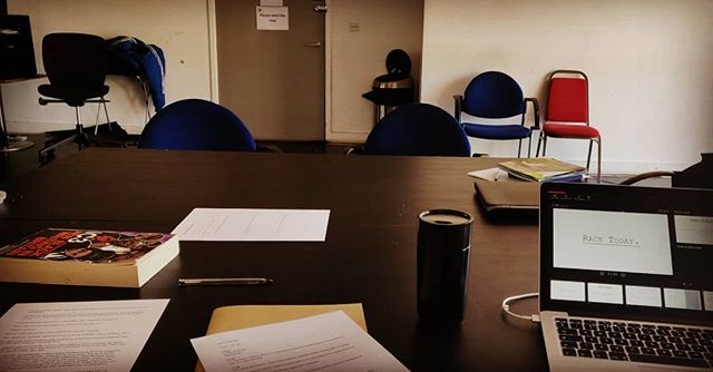 Our writers room for PoC opened yesterday with the first Writer's  Short Course session! Tomorrow we start workshopping with the lead writers! #WatchThisSpace #RaceToday