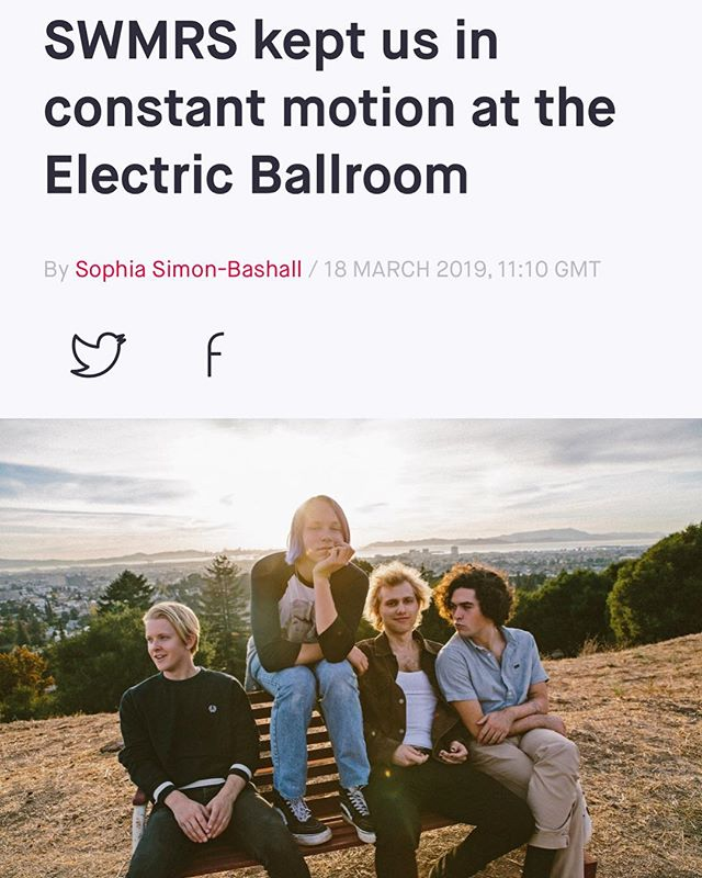 "the folks at @thelineofbestfit wrote an exceptional live review of the @swmrs show in Camden. absolutely phenomenal. ""'if someone is being creepy in the pit they need to get the fuck out.' it's a statement reiterated at every show, and not an empty one."" link @ bio to read! i love @swmrs!!! swm team 4ever!"