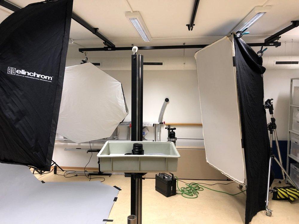 Klein aber Fein. Für kleine Produktionen haben wir 1 Studiobereich eingerichtet.