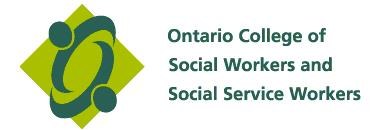 registered Member of the ontario College of social workers - since 1999 - present