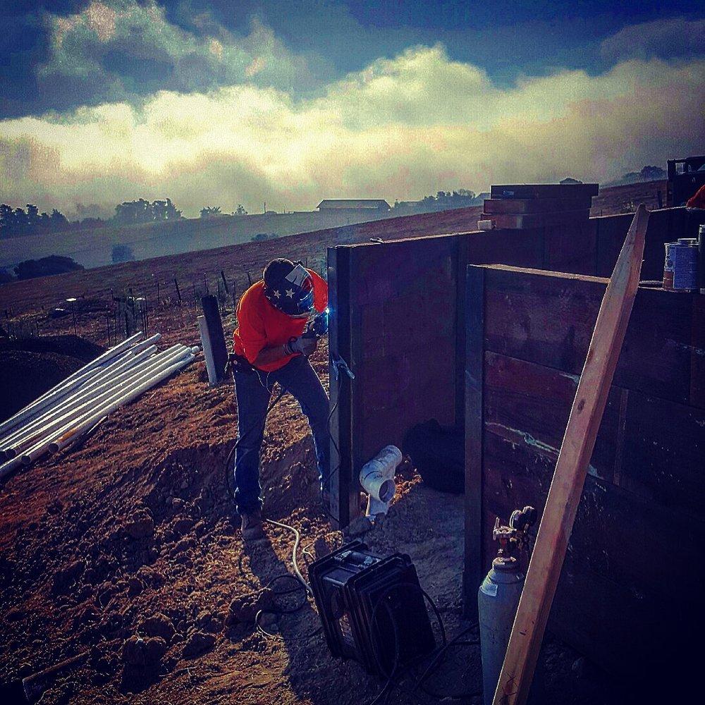 Mano - Ty Welding Retaining Wall.JPG