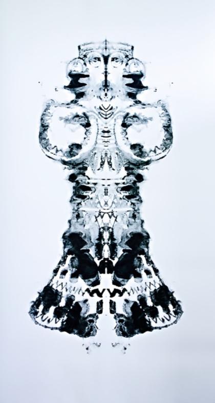 Vernal Lady by  Jennifer Lane , 2011. Monoprint on Cotton.