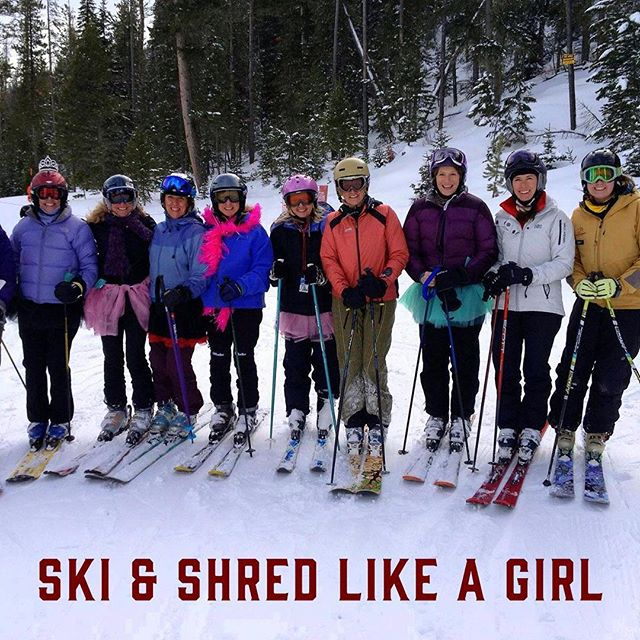 "Come join us for Ski & Shred Like a Girl this Friday! We had a great crew last Friday and are so excited about the group we have lined up for this week too! ⠀ Each Friday from January 4-February 22, join us for Ski & Shred Like a Girl where we host ski and snowboard clinics taught by and aimed towards women. So whether you want to try something new, or get ready for that next run, we have the crew for you!⠀ ⠀ This week our guides include:⠀ ⠀ Theresa Decker⠀ - Former ski racer, who grew up in Cody and at Sleeping Giant! ⠀ - A teacher at heart⠀ - Absaroka Ski Association's volunteer coach⠀ - Though hard to name just ONE favorite run at SG, she says ""Huckleberry"" ranks right up there! ⠀ ⠀ Susie Smith⠀ - Learning to love winters in Wyoming since 1987⠀ - Certified Level 1 Alpine⠀ - Gliding in the serenity of the quiet forest is her favorite!⠀ - Passionate about Nordic, Alpine, and Telemark skiing!⠀ ""Snowboards, skis, skinny and fat, Alpine, Nordic it's all that! Get out and ski that's my philosophy!"" ⠀ ⠀ Chris Scheiber Bond⠀ - Started snowboarding at Snowy Range while at UW⠀ - Raised in Cody and current local hill is Bridger Bowl⠀ - Currently planning her next ski playlist, bike trip, and sandwich⠀ ⠀ Join Theresa, Susie, and Chris at The Giant!"