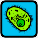 The biology button, in full color which indicates that the page can be visited.