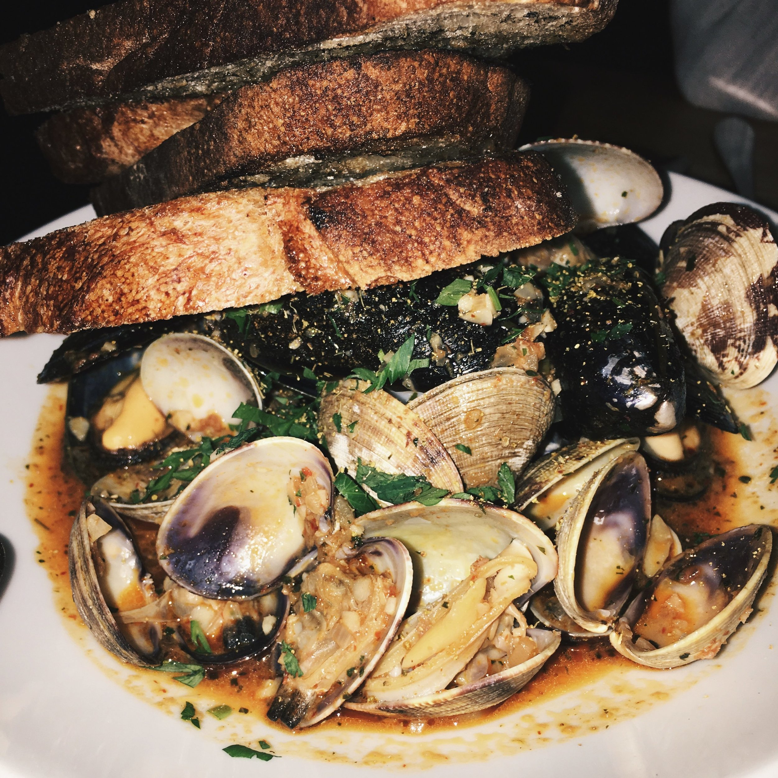 Bestia Downtown Los Angeles Mussels and Clams.