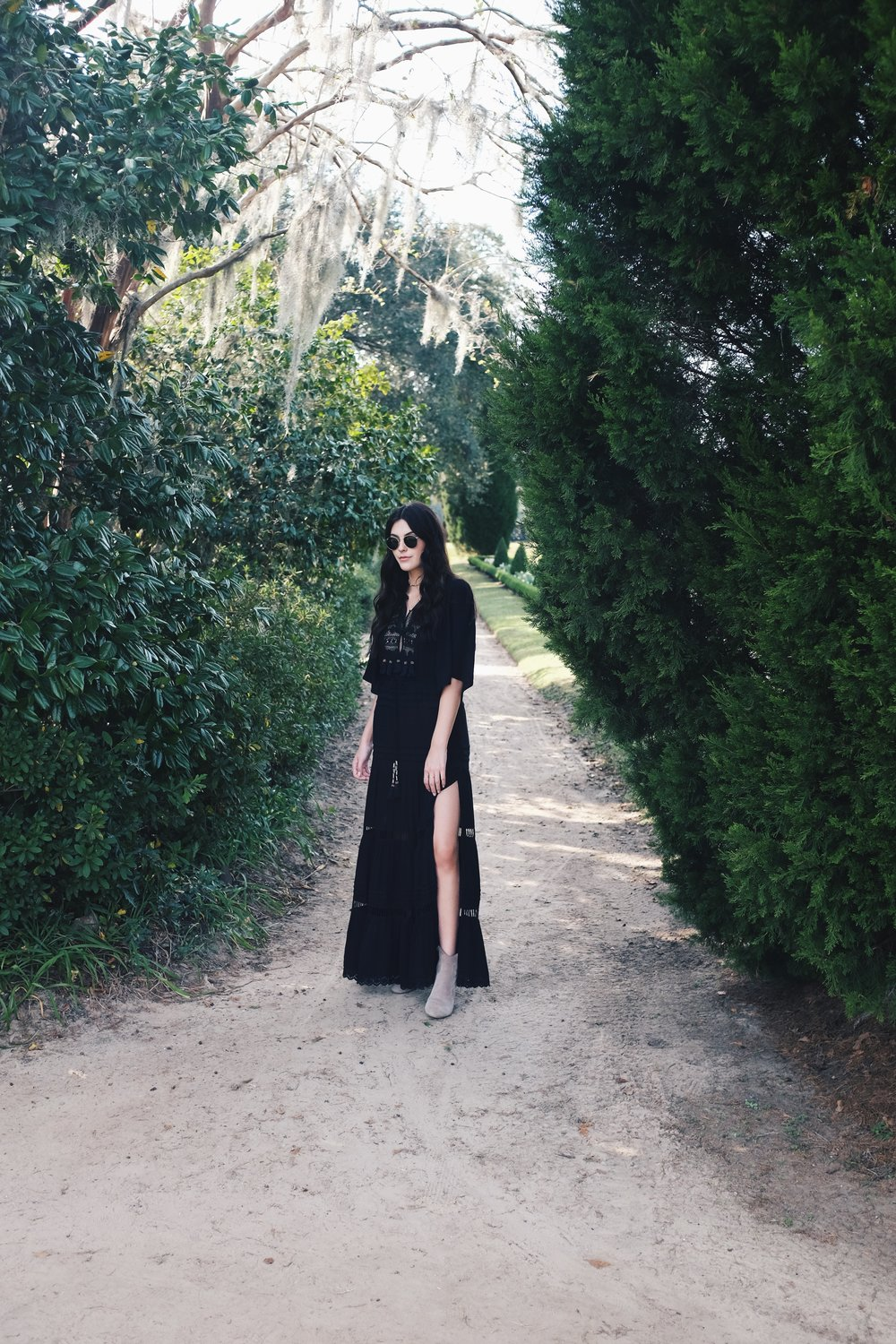 Julia Friedman in a Cleobella Dress from Planet Blue at Middleton Place in Charleston, South Carolina