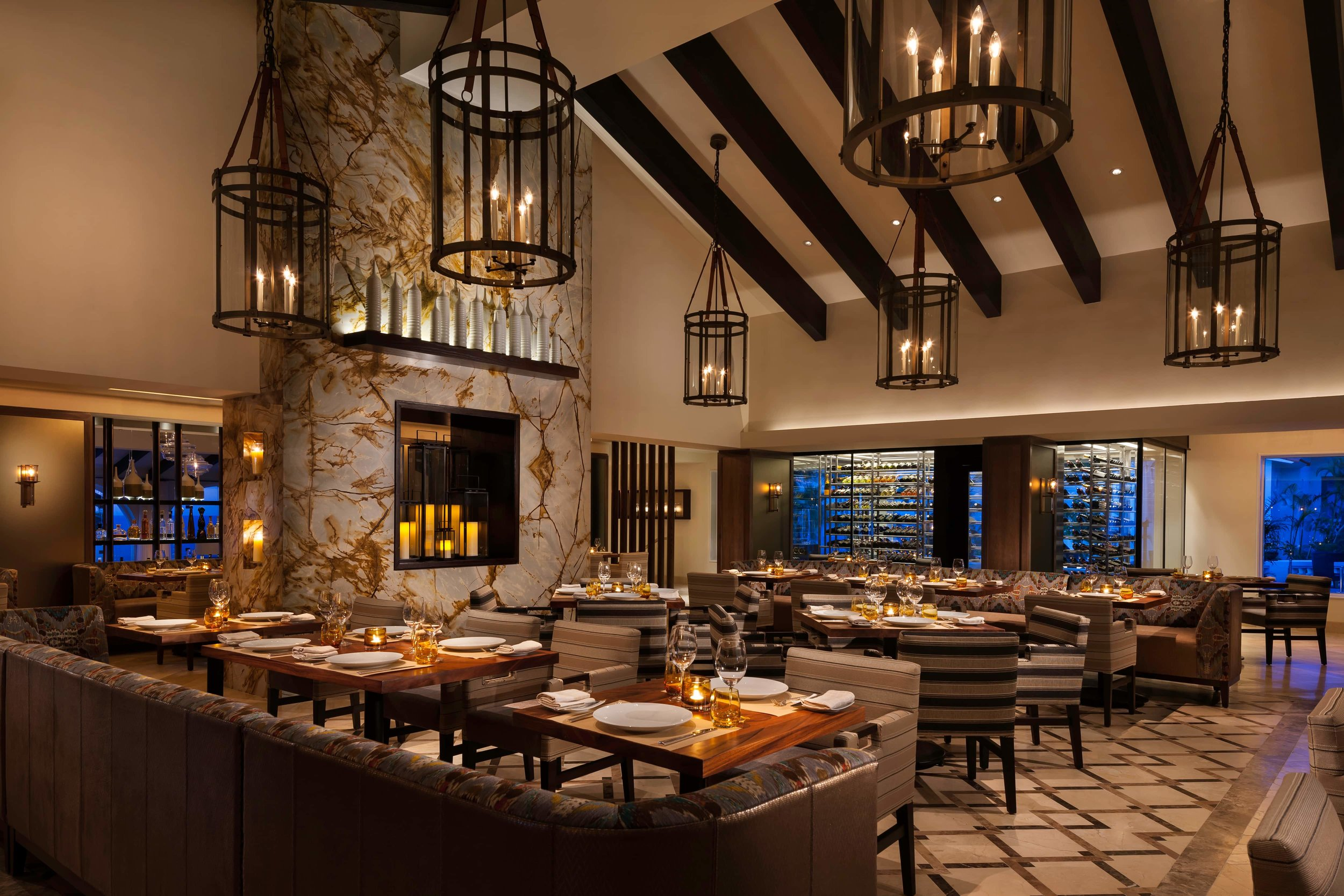 The interior of Seared at the One&Only Palmilla in Cabo.