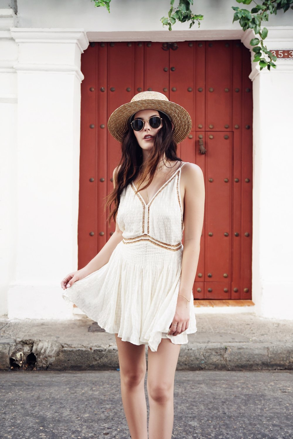 Julia Friedman's travel diary to Cartagena, Colombia wearing Magali Pascal.