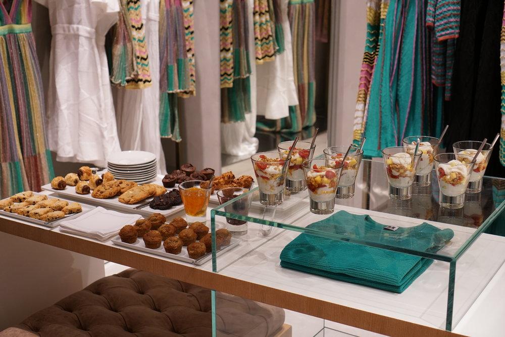 Brunch at the M Missoni Store in the Aventura Mall in Miami, Florida.