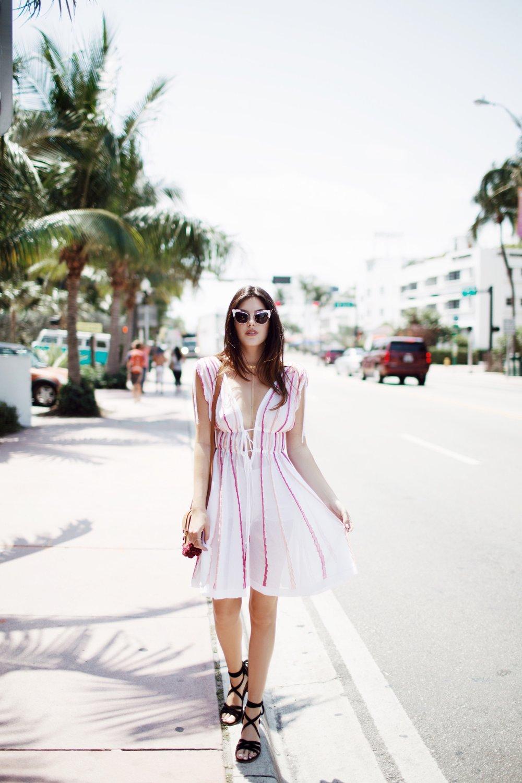 Julia Friedman in South Beach, Miami wearing M Missoni.