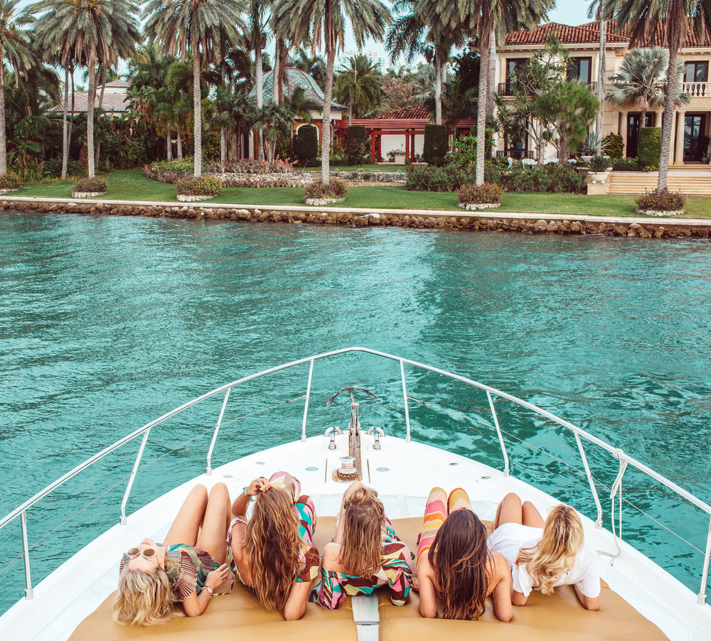 Yachting in M Missoni in Miami.
