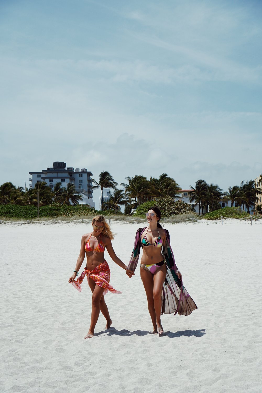 Julia Friedman and Veronia Ferraro in Miami wearing M Missoni.