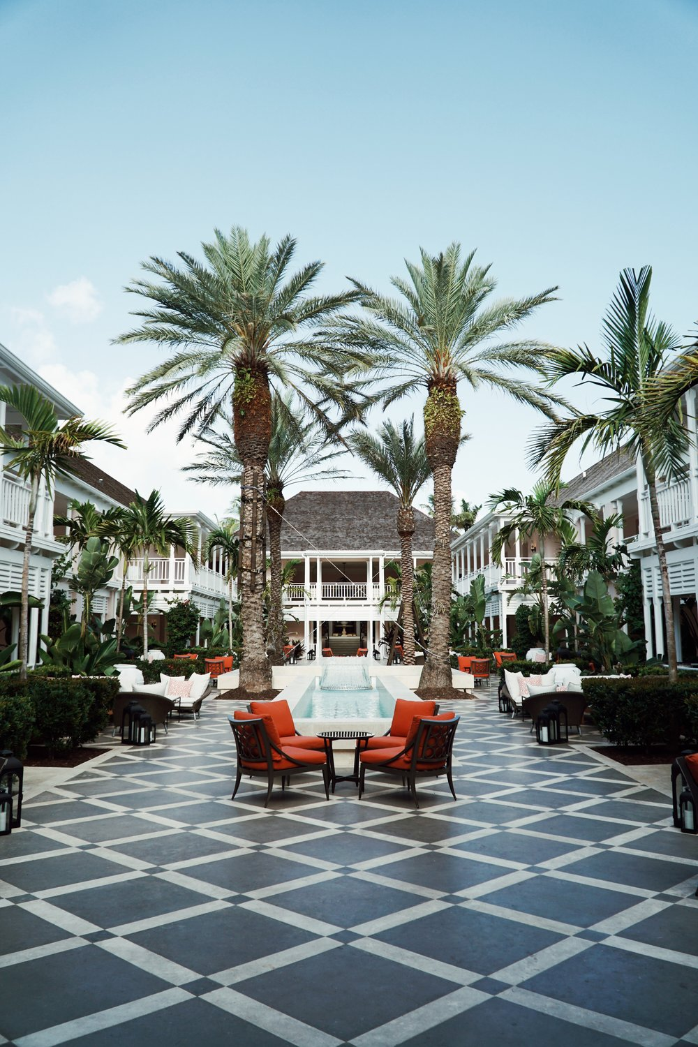 Courtyard at the One&Only Ocean Club taken by Julia Friedman
