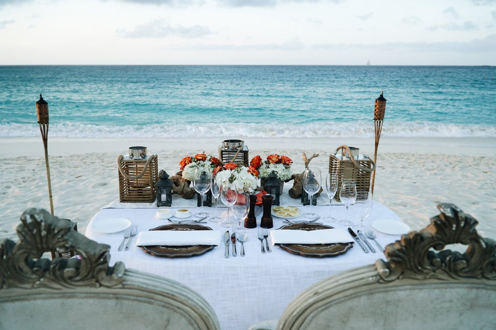 A dream dinner at the One&Only Ocean Club in the Bahamas taken by Julia Friedman