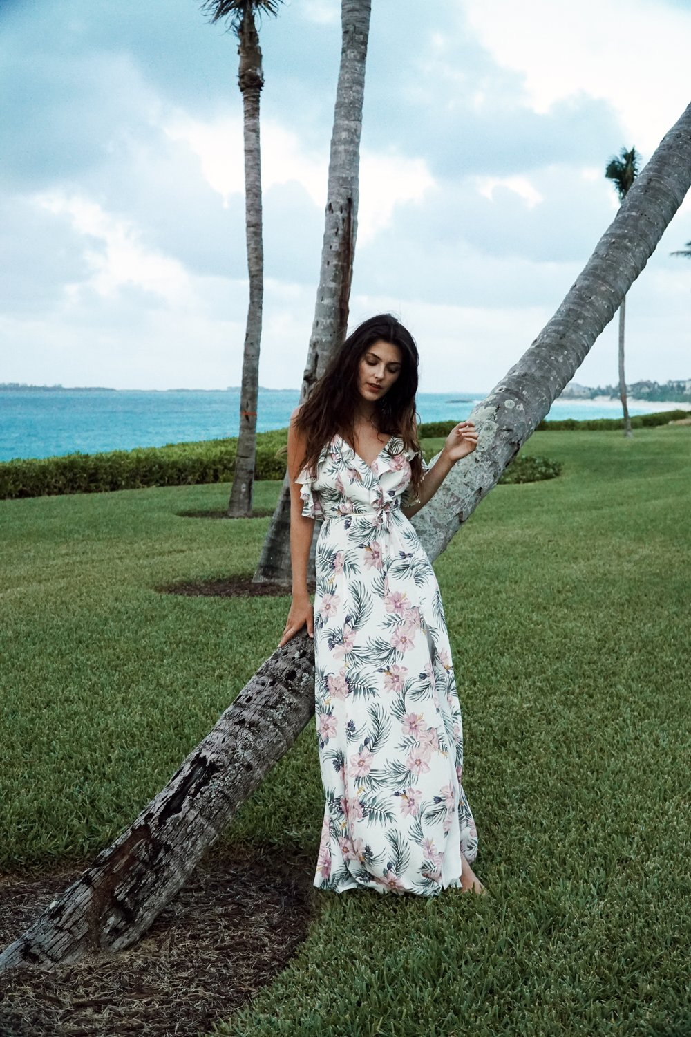 Julia Friedman wearing the Privacy Please Karen Dress from Revolve Clothing at the One&Only Ocean Club in Bahamas