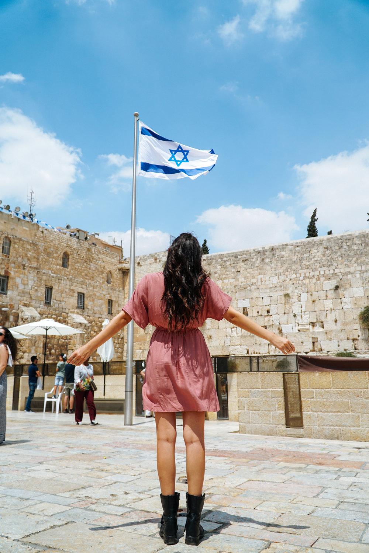 Julia Friedman at the Western Wall in Jerusalem, Israel.
