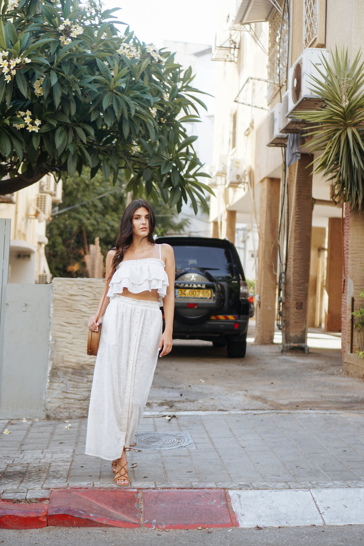 Julia Friedman Wearing a two piece Tularosa set from Revolve | Israel Diary Week #3