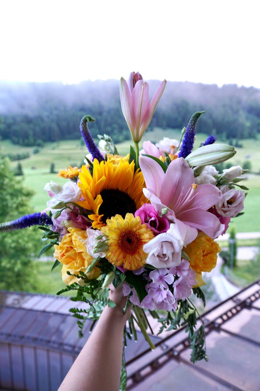 schloss elmau germany flower bouquet system professional Julia Friedman