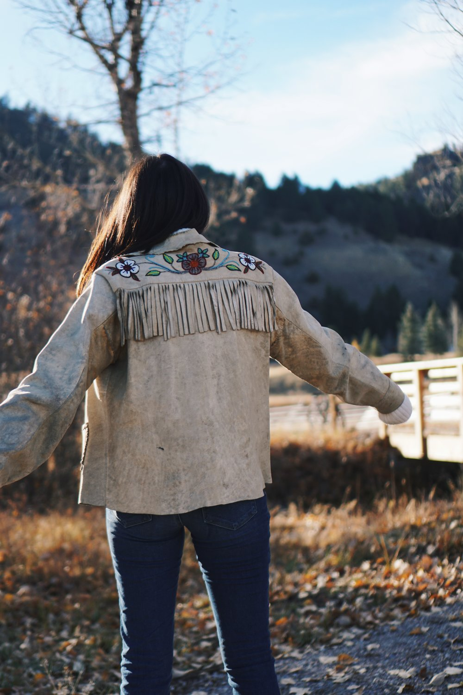 What Goes Around Comes Around Vintage Suede Fringe Jacket, Paige Denim Jeans | Montana Style Julia Friedman