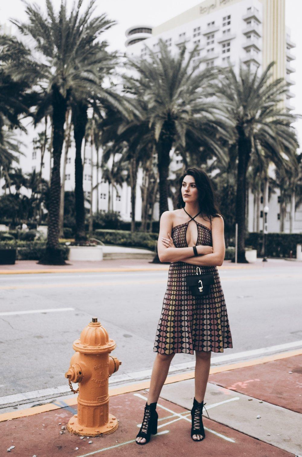 Miami Art Basel by Julia Friedman - wearing M Missoni Dress.