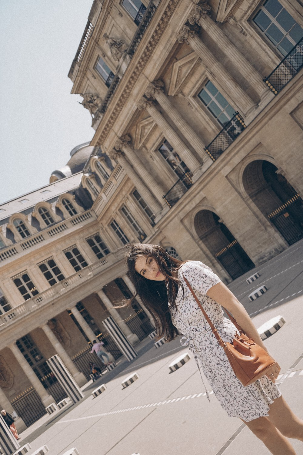 Paris for the Weekend Palais Royale Julia Friedman wearing Sezane