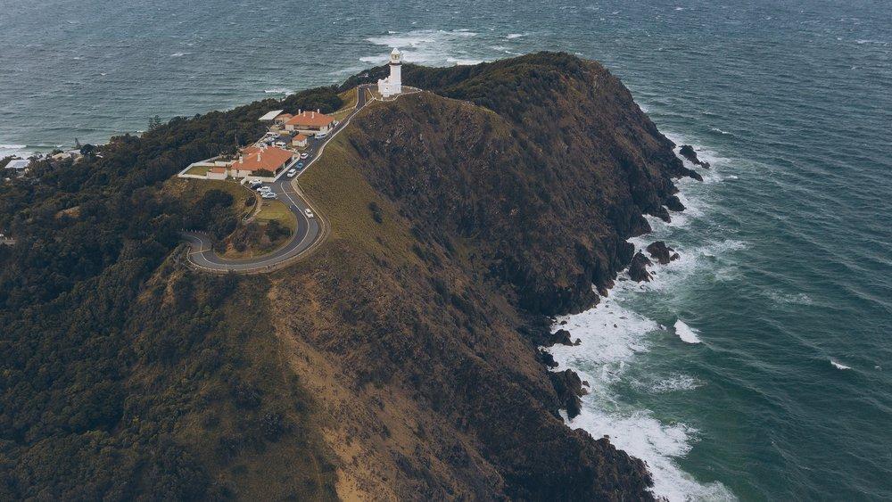 dji drone shot Byron bay light house Julia friedman September Brisbane down under Australia