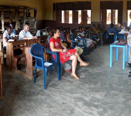 Revival meeting in Kumasi, Ghana