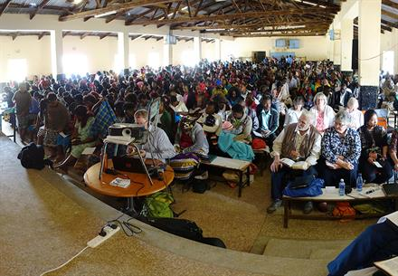 Sunday communion meeting at the Kenya Rally 2018