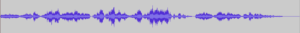 Standard music visualization waveform