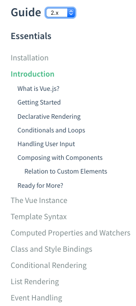 Vue.js documentation