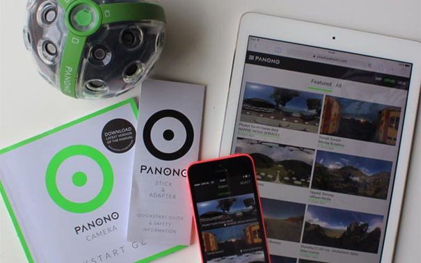 The Panono user experience was implemented on the several elements of the product system