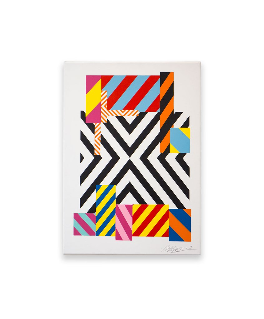 'Untitled', Maser, Spray-paint on canvas.