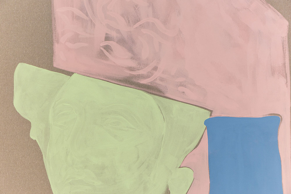 And Being Swept Along Is Not Enough  (detail), Lee Welch, 2019, Acrylic on polyester, 148 x 198 cm
