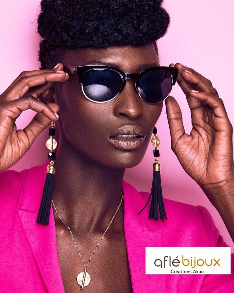 African Vibes - Long Suede Tassel Earrings