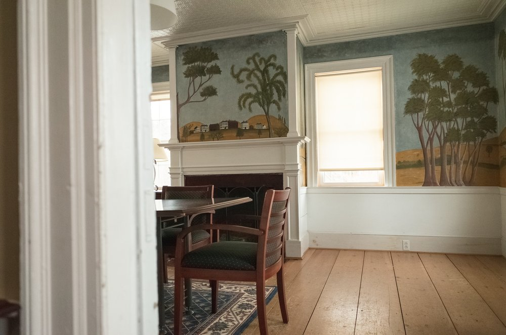 Our Conference Room, complete with an original Mural painted by the famous Rufus Porter in the 1830s.
