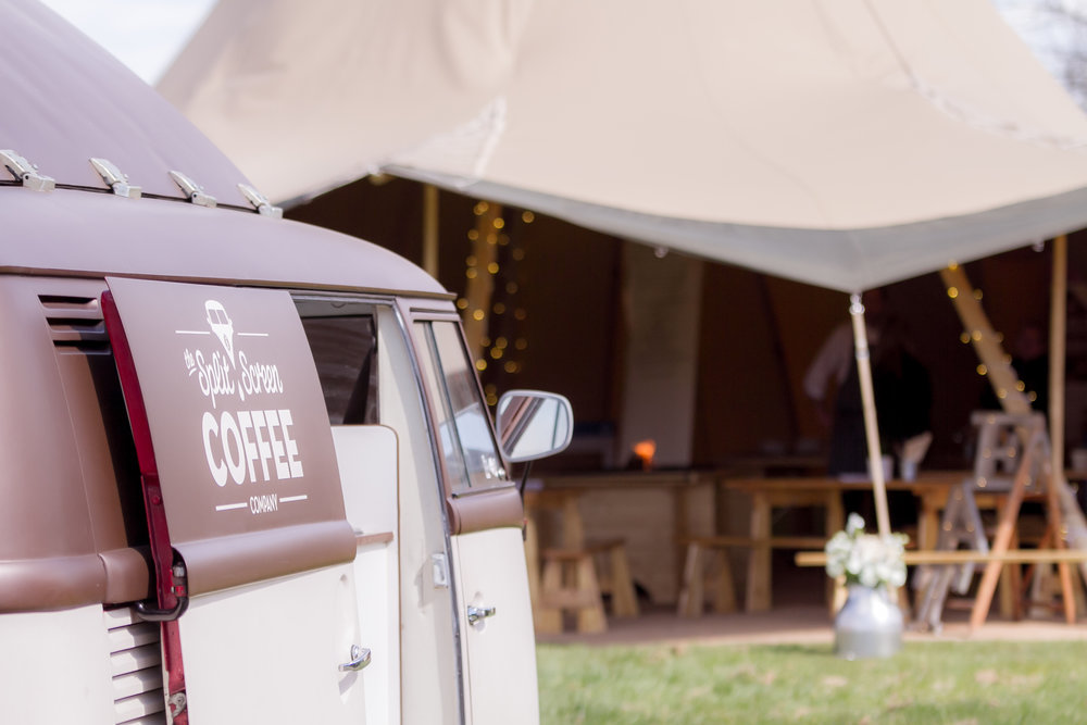 Coffee at tipi event
