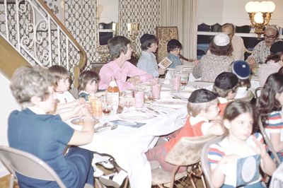 Here we all are crammed into my grandparents row home in Overbrook. I loved that place. Passover was a bit more serious to my Poppop. Although we did joke around, we were all quite and respected him as he read the prayers for the Seder. It always interested me how he recited Hebrew with such a different accent.