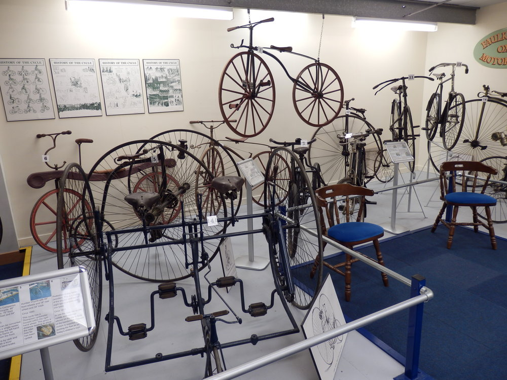 A selection of our vintage bicycles on display in the Morris Museum