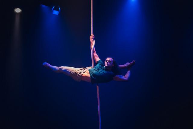 Adam on Rope   Photo by Richard Walker