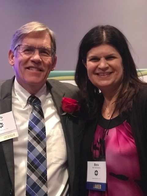 Bev Weinberg and Rob Reid, CEO of Access Services