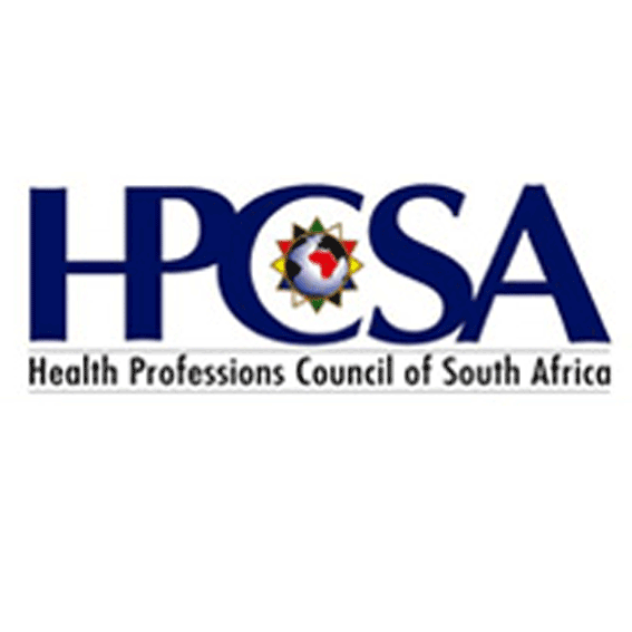 The Health Professions Council of South Africa (HPCSA)   The Health Professions Council of South Africa (HPCSA) is a statutory body, established in terms of the Health Professions Act, 1974 (Act 56 of 1974).  The Council, in conjunction with its 12 Professional Boards, is committed to promoting the health of the population, determining standards of professional education and training, and setting and maintaining excellent standards of ethical and professional practice.  Web site:  www.hpcsa.co.za