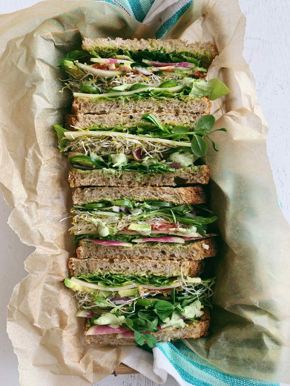 the ultimate veggie sandy