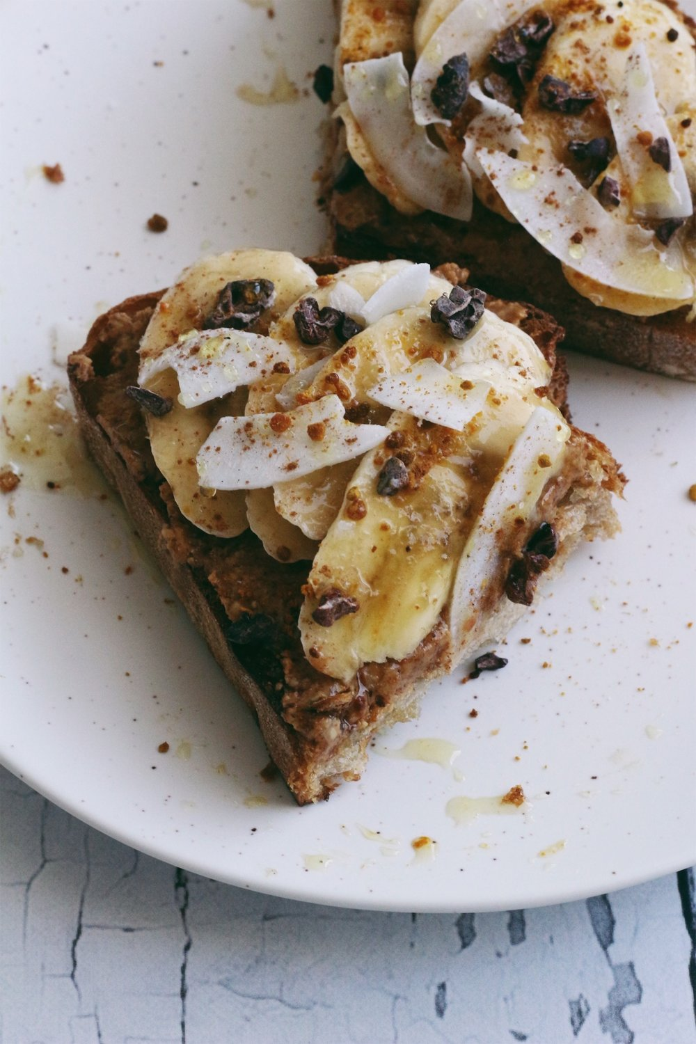 5 minute almond butter toast